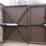 Разводка подключения домофона на воротах