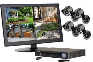 Система видеонаблюдения на четыре камеры