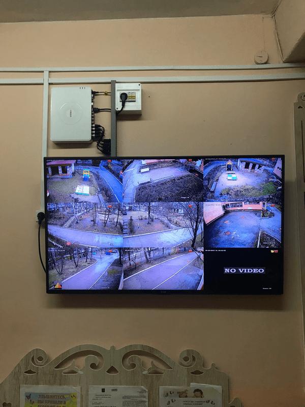 Видеонаблюдение на телевизоре