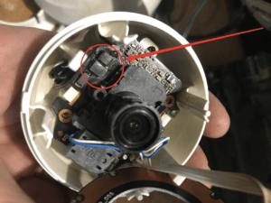 Сгоревшая видеокамера