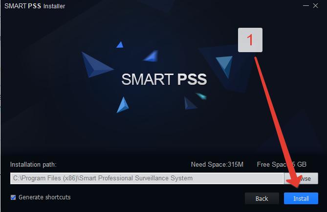 Установка SmartPss