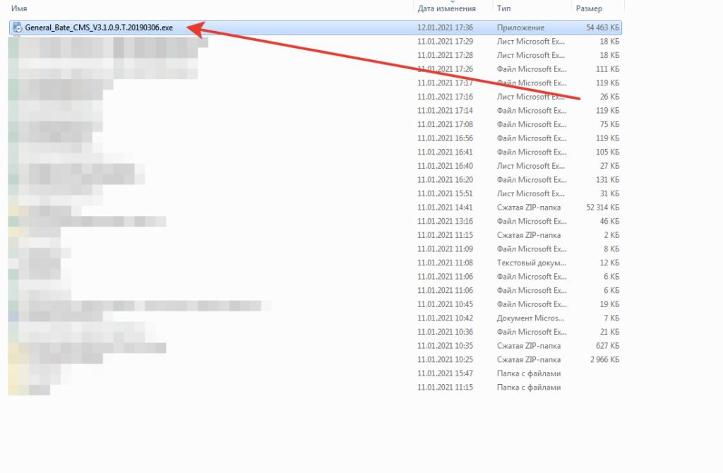Загруженнный файл с программой