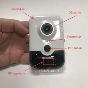 Лицевая сторона камеры с описанием